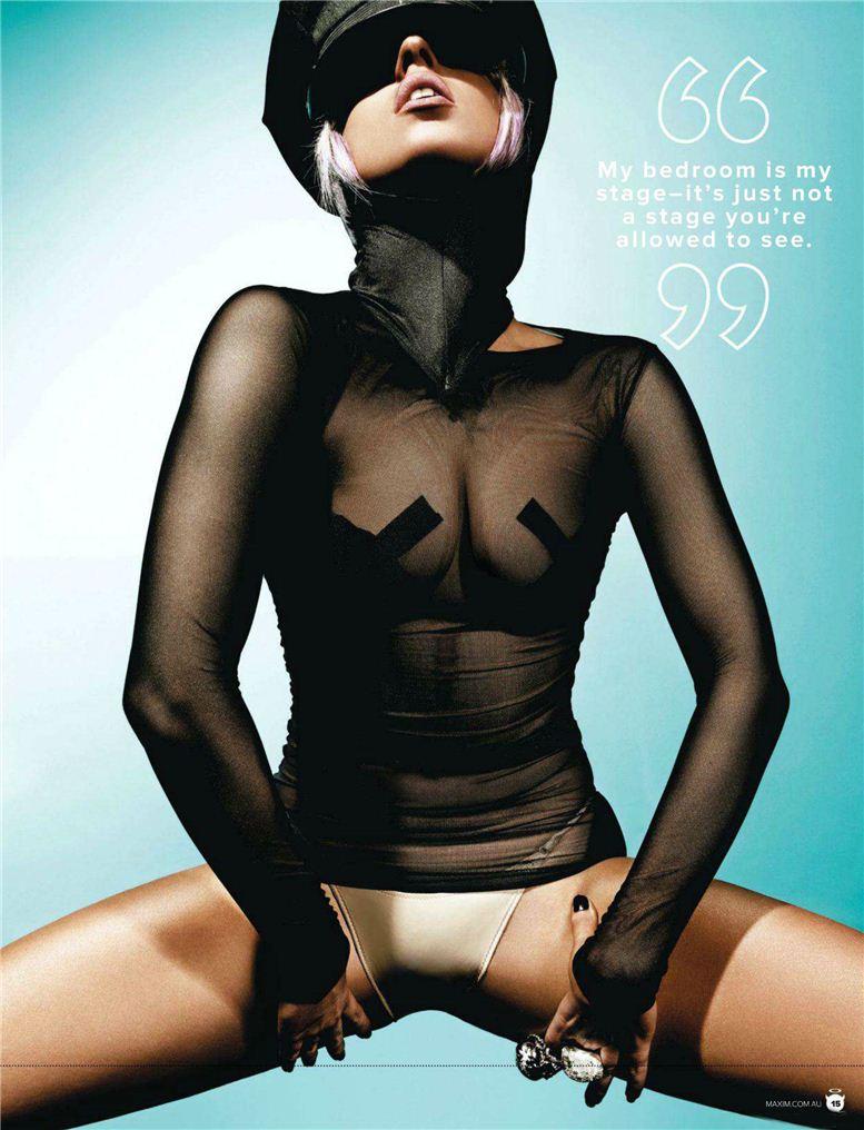 Lady GaGa / Леди Гага в журнале Maxim США, июль 2009 и Maxim Австралия, июль 2012 / фотограф Rennio Maifredi