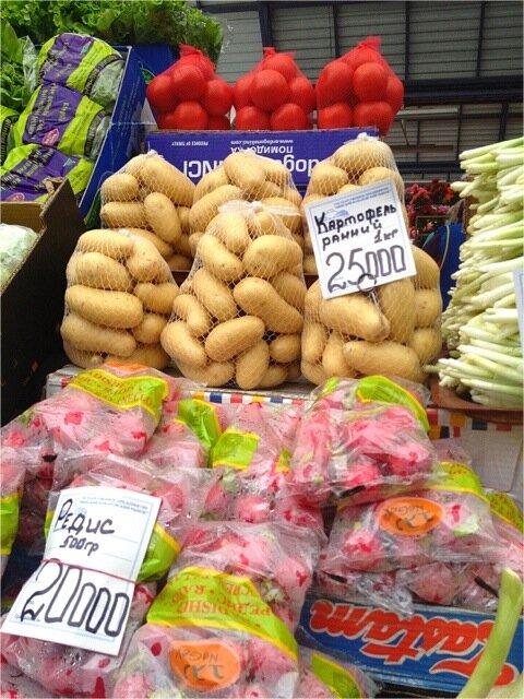 картофель на Комаровском рынке в Минске