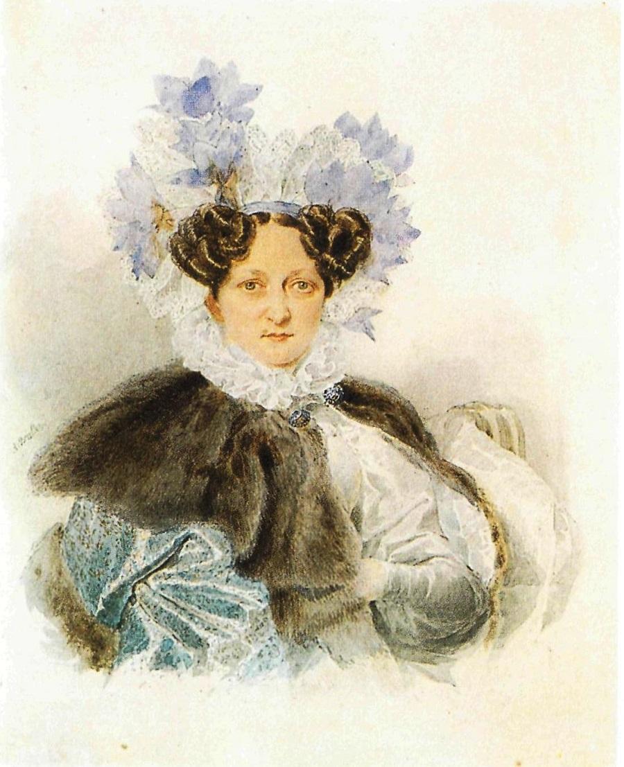 Brulloff-Alexander Portrait Of C I Zagriazhskaya 1820s Brulloff-Alexander.jpg