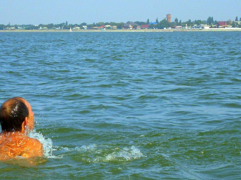Азовское море, поход на вёслах, сентябрь 2008, на лодке