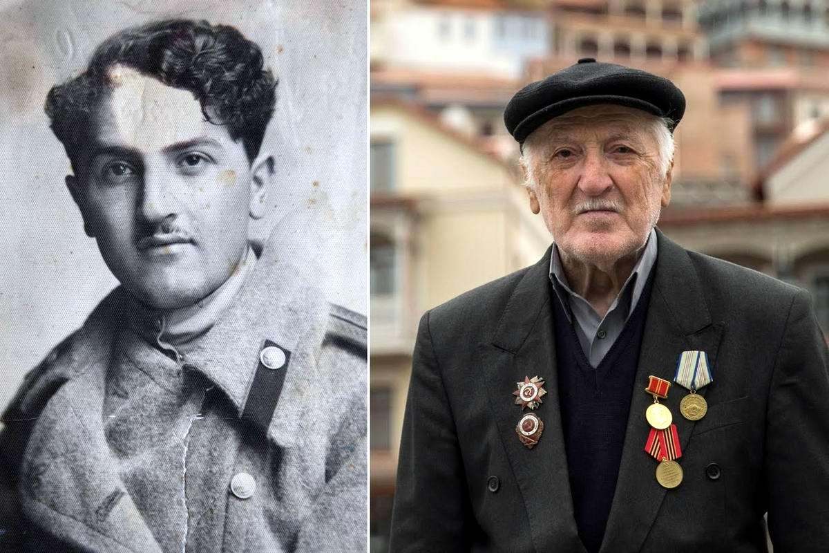 15 героев Великой Отечественной Войны из 15 республик Советского Союза - Георгий Гозалишвили, уроженец Грузии, 88 лет