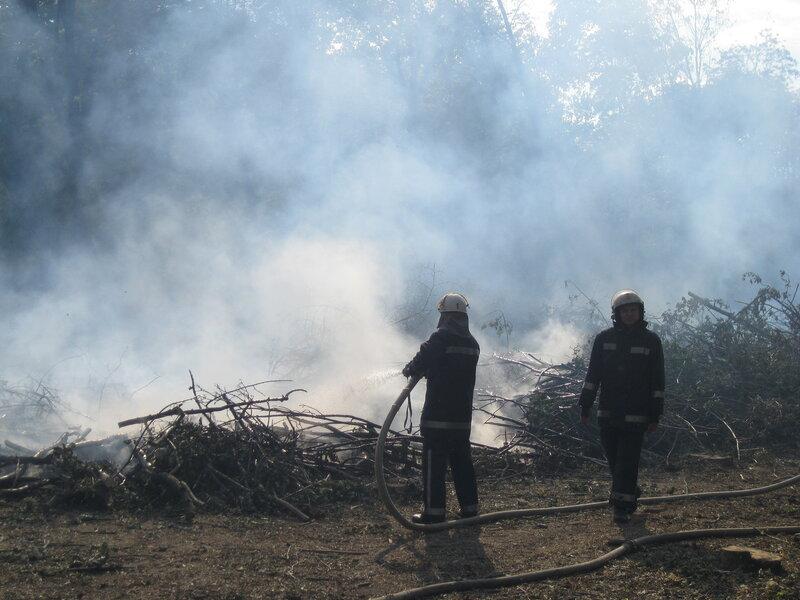 пожар в Парке Горького