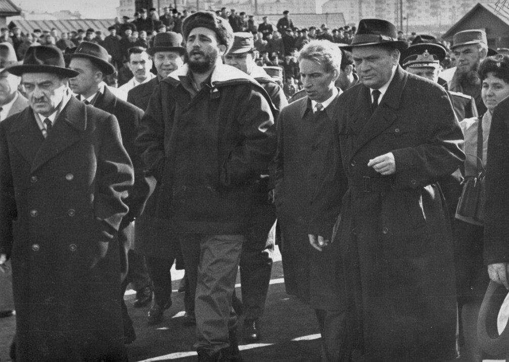 1960-е. Фидель Кастро в рыбном порту Мурманска