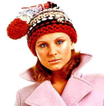 Шапка-колпак с помпоном - шапка крупной вязкой.