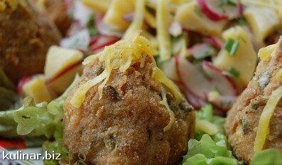 картофельный салат с редисом и зеленью