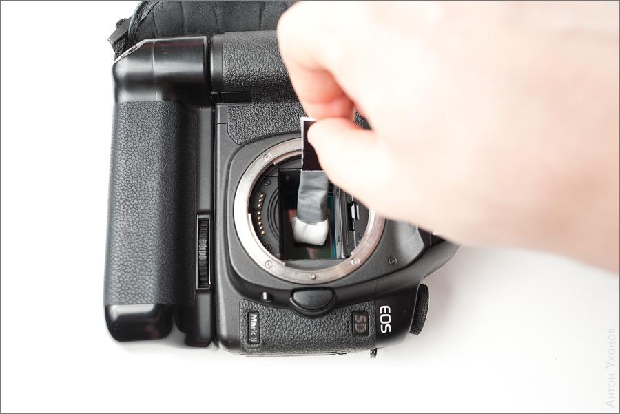 чистка матрицы фотоаппарата сжатым воздухом