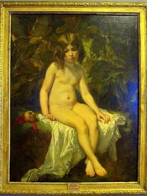 Тома Кутюр (1815 - 1879). Маленькая купальщица. 1849.