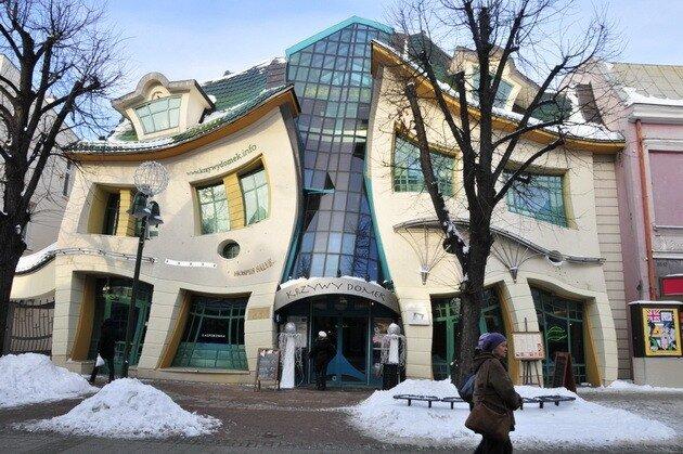 Кривой дом в Сопоте. Польша