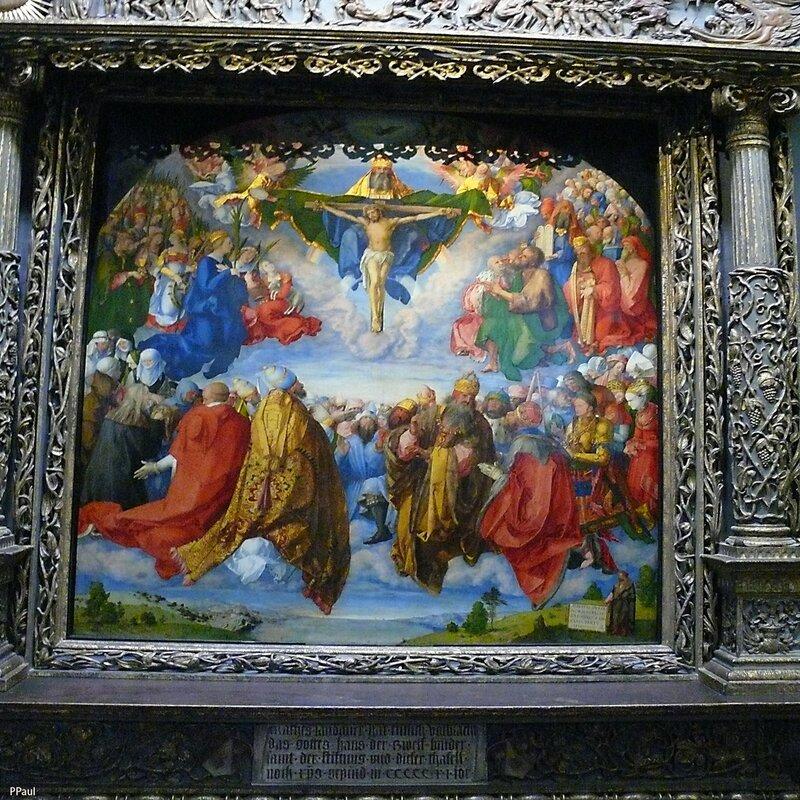 """Альбрехт Дюрер """"Алтарь Всех святых"""", 1511 г."""
