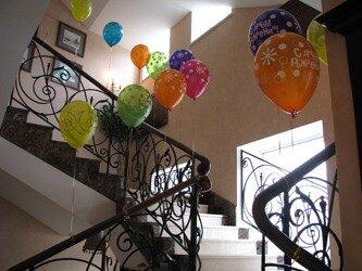 лестница из шаров