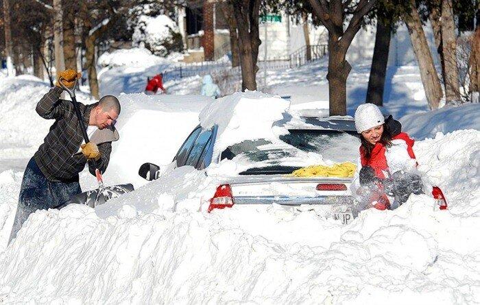 зима 2010 в сша