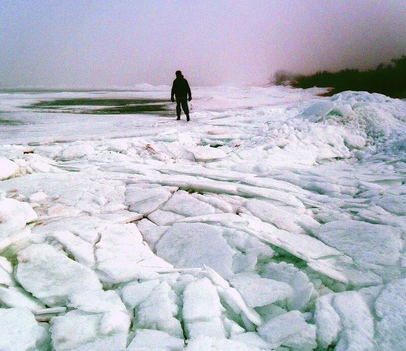 Зима на Ясенской косе...
