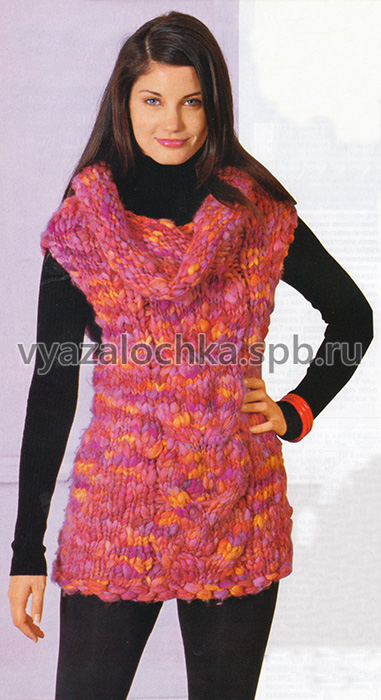 Меланжевое мини-платье без рукавов
