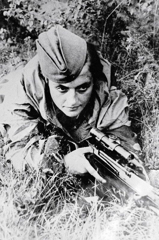 Снайпер Людмила Павличенко, советские женщины-снайперы, советские снайперы, снайпер Павличенко