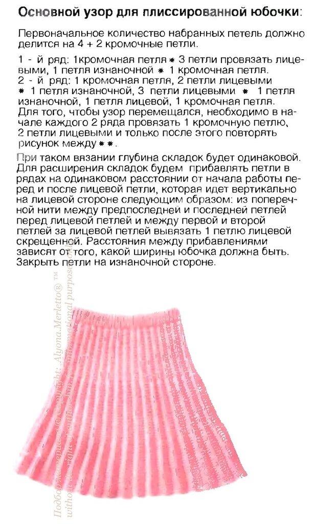Вязание детских юбочек спицами с описанием 93