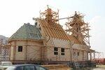 Установка куполов на храм Михаила Архангела