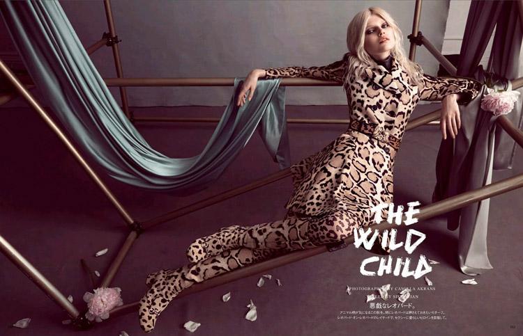 Ола Рудницка (Ola Rudnicka) в октябрьском номере журнала Vogue Japan