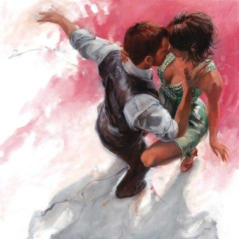 Я чувствую твое дыханье, когда ты танцуешь. Художник Allen Bentley