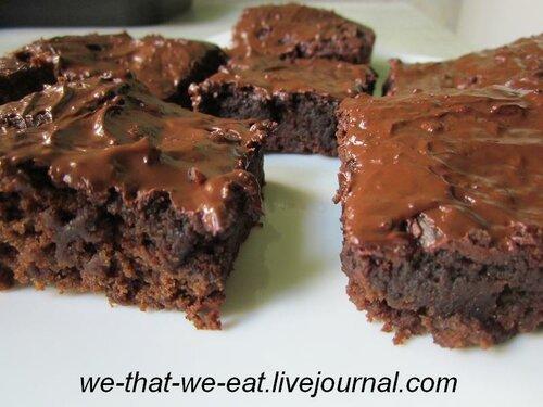 Льняные шоколадные брауни (постные)