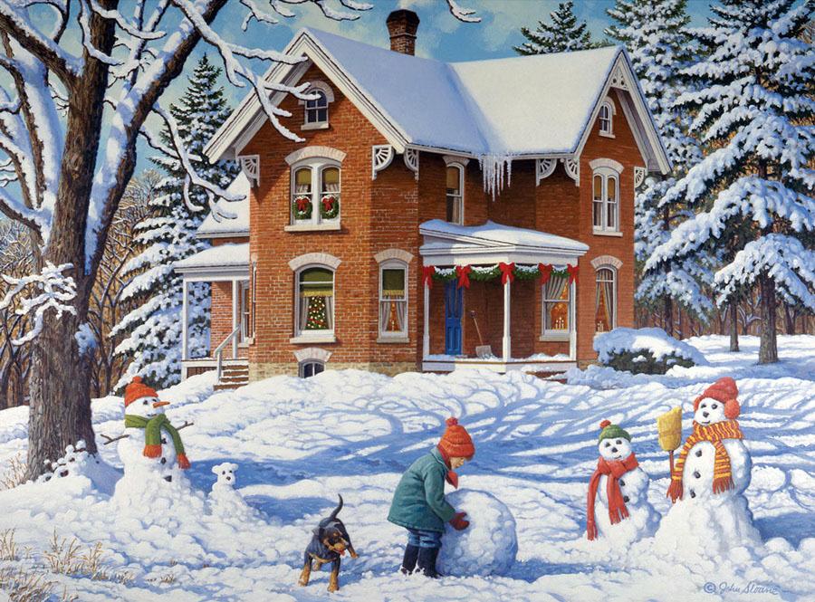 тема зима в саду картинки капри