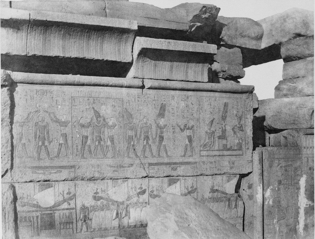 Карнак (Фивы). Гранитная конструкция. Резьба и роспись. 1858