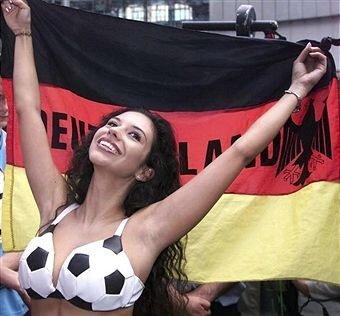 Болельщица футбола