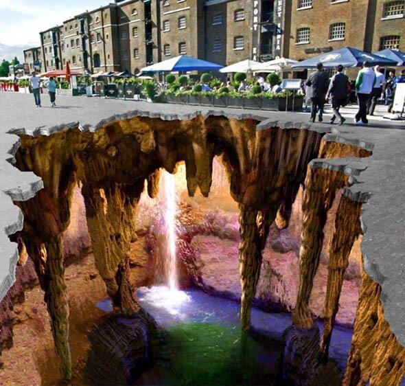 Пещера в провале - художник 3D Эдгар Мюллер