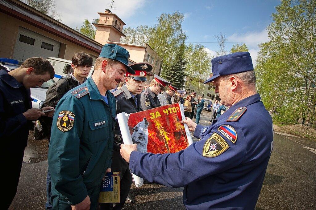 Утром субботы 7 мая 2011 в Одинцово в очередной раз состоялся развод противопожарных патрулей