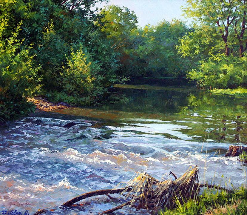 Художник Дмитрий Лёвин родился в городе Моршанске, в Тамбовской области, в 1955 году.
