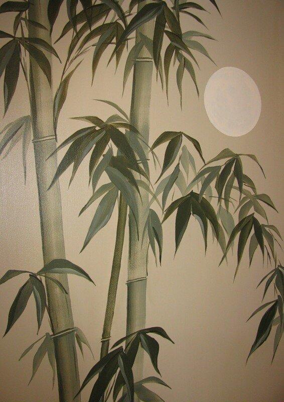 Рисунки бамбука в интерьере