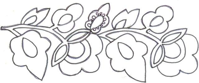 Росписи на бумаге поэтапно