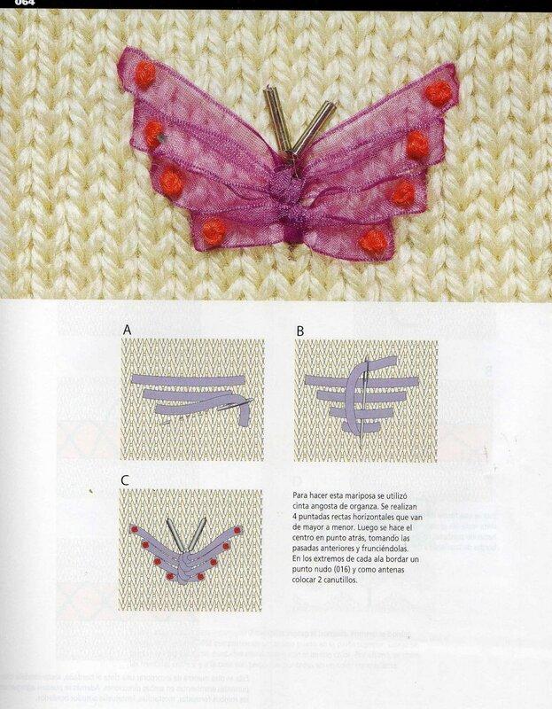 Вышивка по вязаному полотну 99