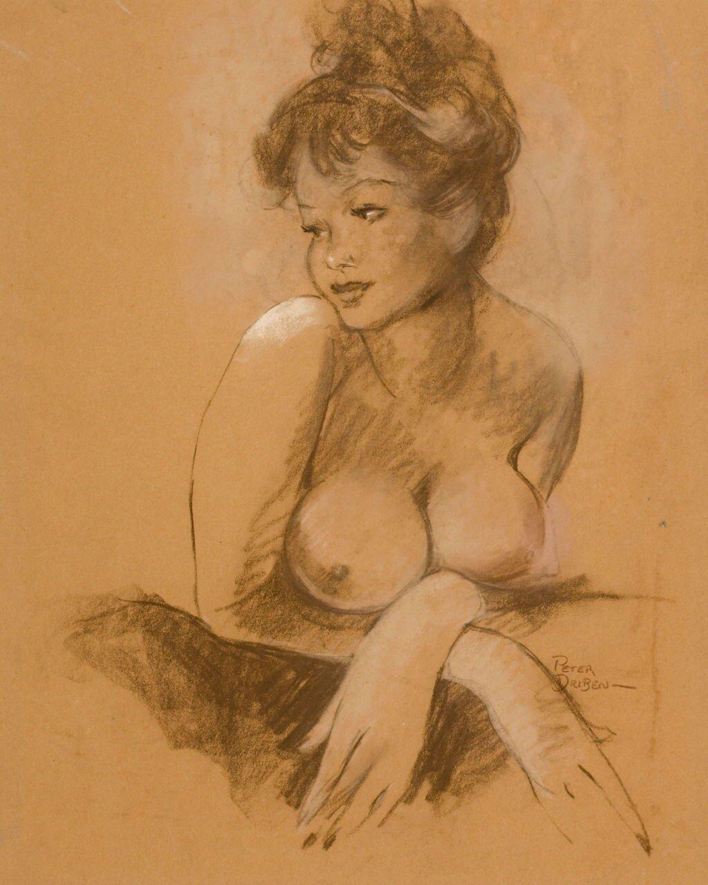 Peter Driben. Female nude study