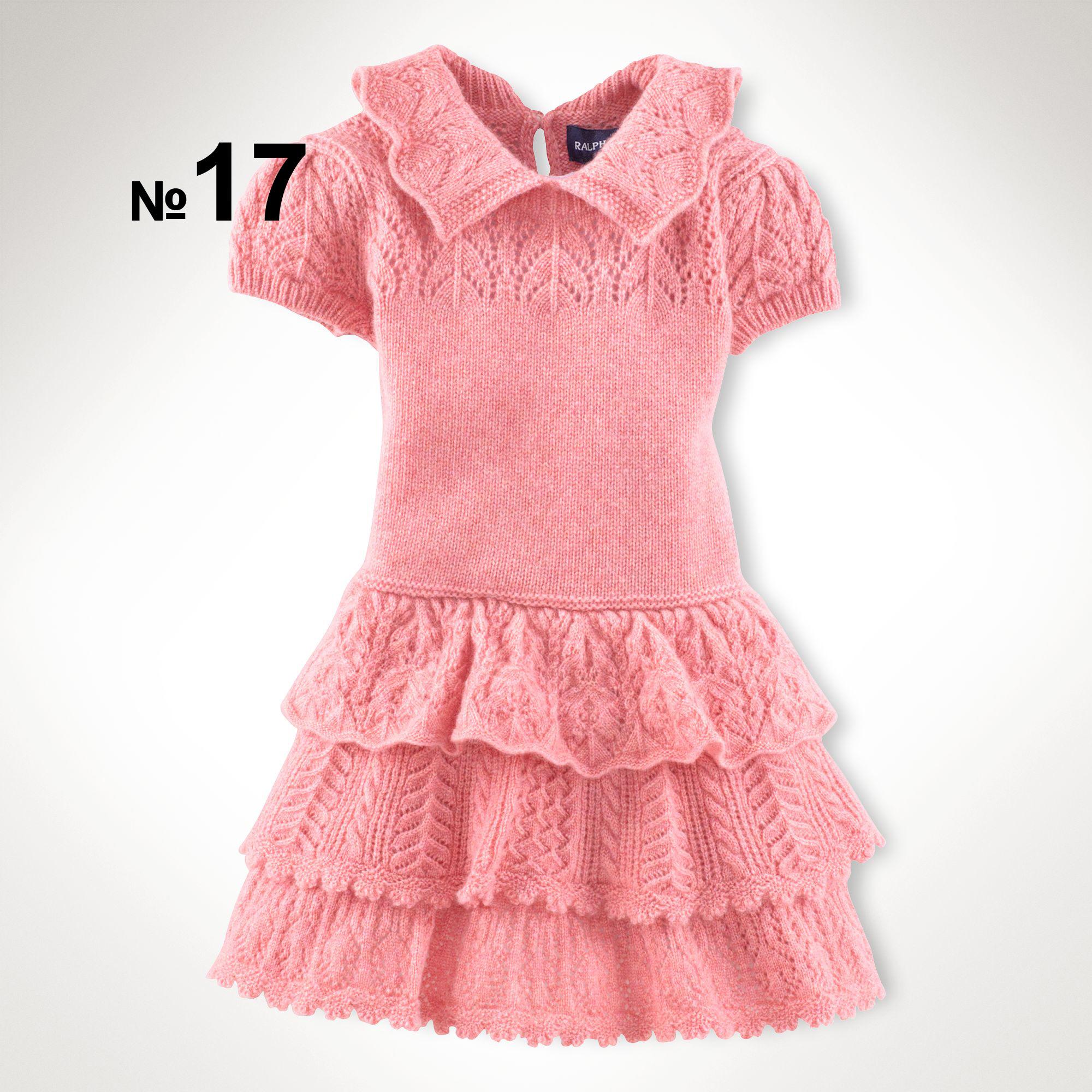 Ажурные платья для девочки спицами