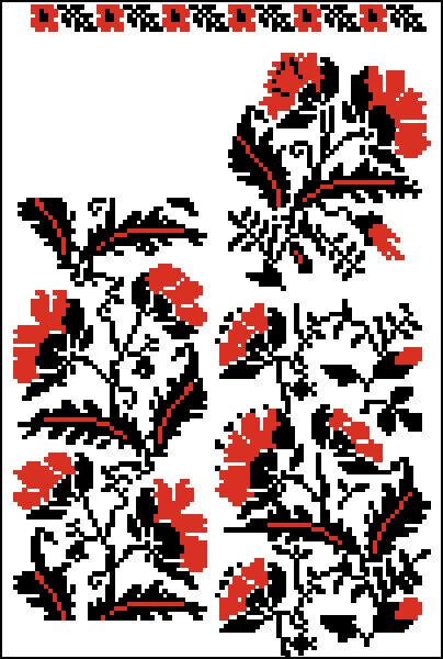 """Комментарии (стр. 1) - Схема вышивки  """"Вышивка для рушника """" - Схемы автора  """"poltanya """" - Вышивка крестом."""