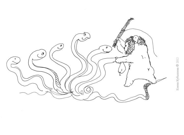 рисунки подвиги геракла: