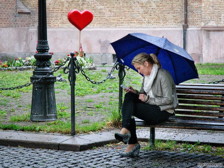 Любовные СМС (блондинка, любовь, сердце, СМС)