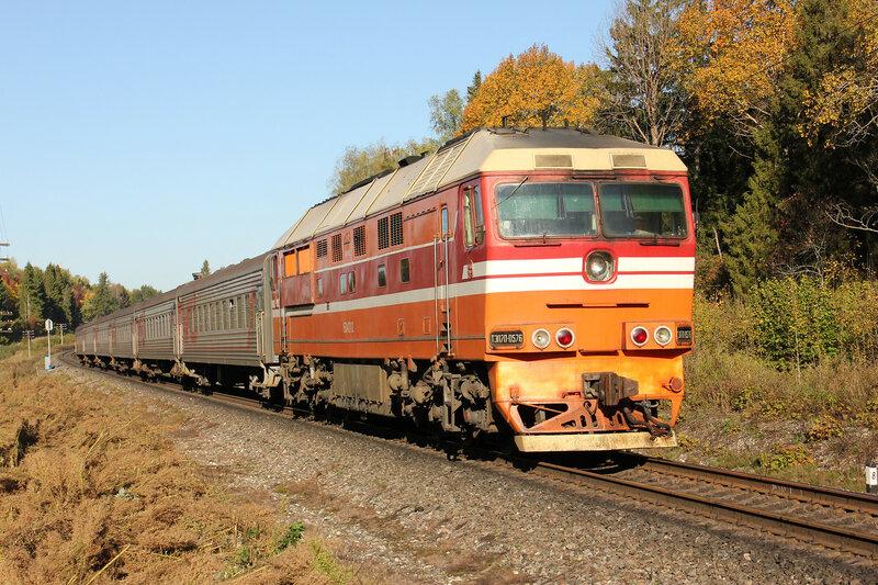 ТЭП70-0576 с поездом 6574 Пищалкино — Ярославль-Главный