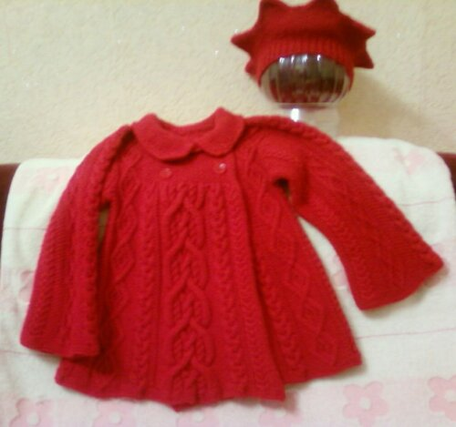 Вязание аранами детского пальто