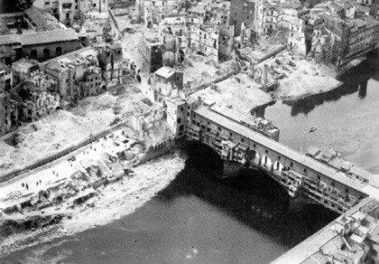 Firenze 1945 Pontevecchio