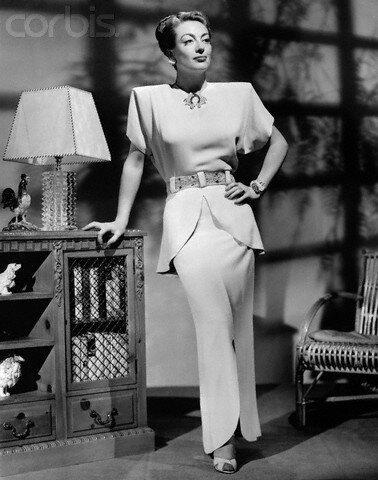 Joan Crawford Modeling Adrian Dress