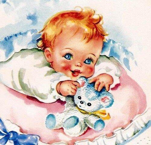 Открытки маленьких детей новорожденных, банан рисунок картинки