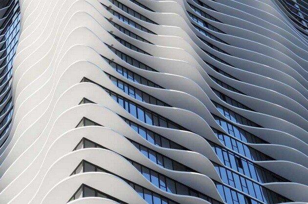 Небоскреб Aqua Tower. Чикаго