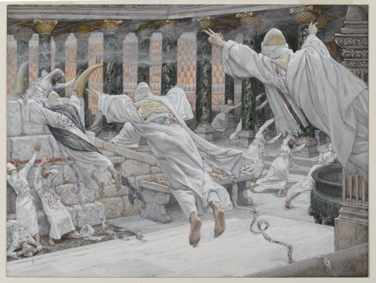 Brooklyn Museum: The Dead Appear in the Temple (Les morts apparaissent dans le Temple)