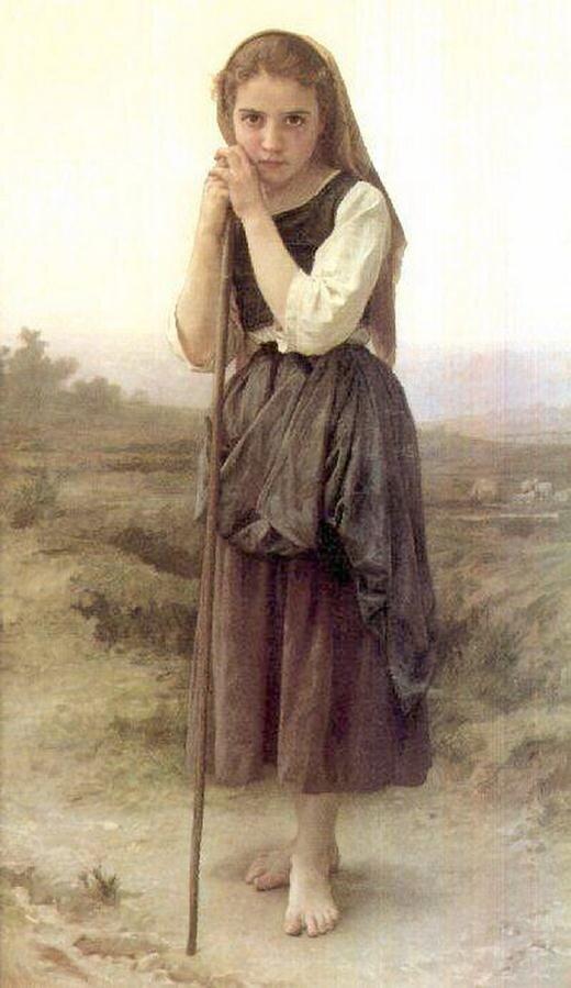 Бугеро, маленькая пастушка,(1891),The Little Shepherdess