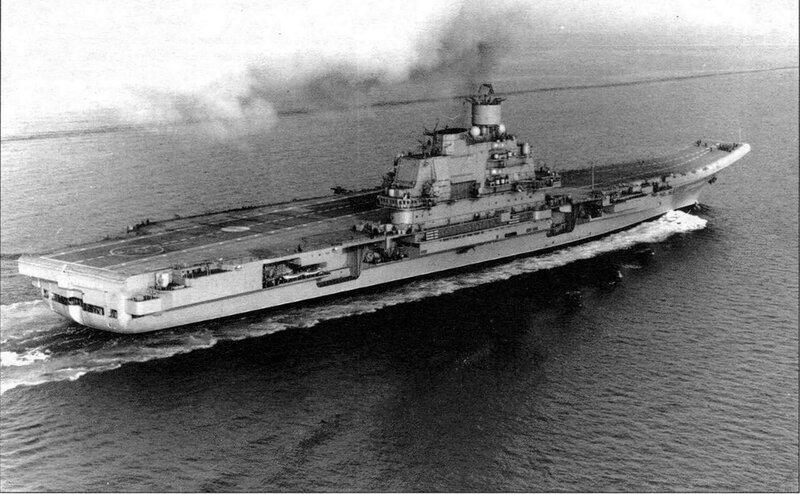 ТАКР пр.1143.5 «Адмирал Кузнецов» в походе.