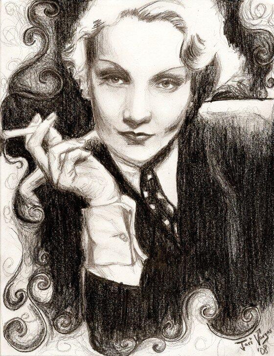 Marlene Dietrich by ToriC Vargas