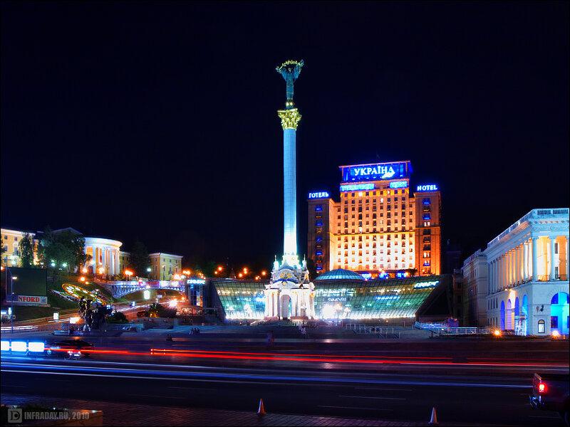 Ночной Киев, фотография ночного Киева