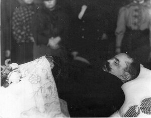 Князь С.Н.Трубецкой в гробу.