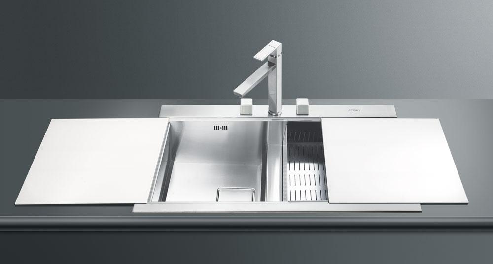 мойки SMEG - качество и стиль на кухне - кухонный дизайн Краснодар - магазин сантехники (моек и смесителей для кухни)